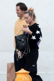 Margot Robbie with her hubby Tom Ackerley out in Los Angeles 2020/03/31 2