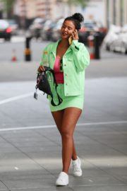 Maya Jama Outside BBC Radio One in London 2020/04/12 1