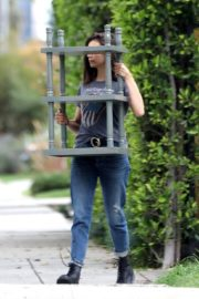 Nina Dobrev out and about in Los Angeles, California 2020/04/07 5