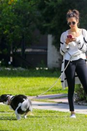 Nina Dobrev out for a walk her dog in Los Angeles, California 2020/04/07 4