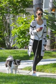 Nina Dobrev out for a walk her dog in Los Angeles, California 2020/04/07 5