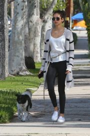 Nina Dobrev out for a walk her dog in Los Angeles, California 2020/04/07 6