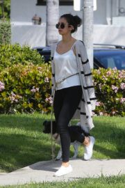 Nina Dobrev out for a walk her dog in Los Angeles, California 2020/04/07 7