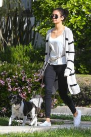 Nina Dobrev out for a walk her dog in Los Angeles, California 2020/04/07 9