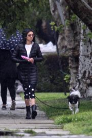 Nina Dobrev out for Walking her dog in Los Angeles 2020/04/09 1
