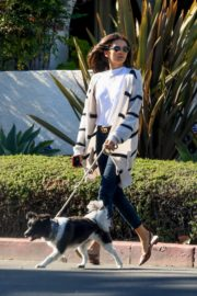 Nina Dobrev walk with her dog out in West Hollywood 2020/04/11 1