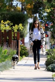 Nina Dobrev walk with her dog out in West Hollywood 2020/04/11 3
