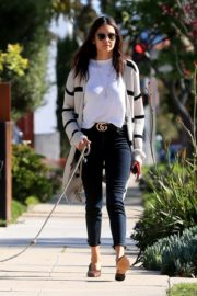 Nina Dobrev walk with her dog out in West Hollywood 2020/04/11 4