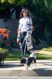 Nina Dobrev walk with her dog out in West Hollywood 2020/04/11 5