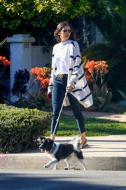 Nina Dobrev walk with her dog out in West Hollywood 2020/04/11 6