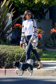 Nina Dobrev walk with her dog out in West Hollywood 2020/04/11 7