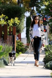 Nina Dobrev walk with her dog out in West Hollywood 2020/04/11 8