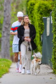 Olivia Holt walks her dog with a friend in Los Angeles 2020/03/31 4