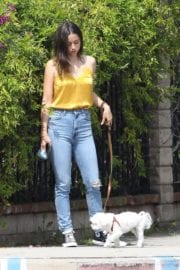 Ana De Armas seen in Yellow Top During a morning walk with her dog in California 2020/05/09 3