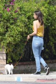 Ana De Armas seen in Yellow Top During a morning walk with her dog in California 2020/05/09 4