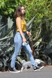 Ana De Armas seen in Yellow Top During a morning walk with her dog in California 2020/05/09 8
