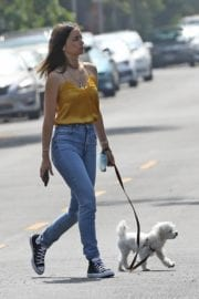 Ana De Armas seen in Yellow Top During a morning walk with her dog in California 2020/05/09 9