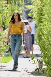Ana De Armas seen in Yellow Top During a morning walk with her dog in California 2020/05/09 22