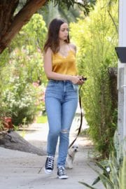 Ana De Armas seen in Yellow Top During a morning walk with her dog in California 2020/05/09 23
