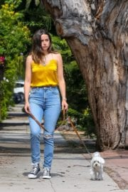 Ana De Armas seen in Yellow Top During a morning walk with her dog in California 2020/05/09 31
