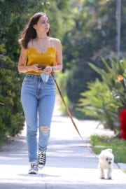 Ana De Armas seen in Yellow Top During a morning walk with her dog in California 2020/05/09 39