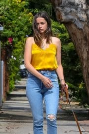 Ana De Armas seen in Yellow Top During a morning walk with her dog in California 2020/05/09 46