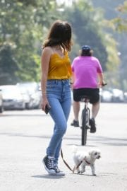 Ana De Armas seen in Yellow Top During a morning walk with her dog in California 2020/05/09 49