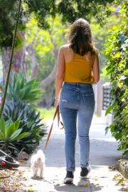 Ana De Armas seen in Yellow Top During a morning walk with her dog in California 2020/05/09 51