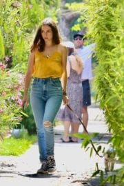 Ana De Armas seen in Yellow Top During a morning walk with her dog in California 2020/05/09 53