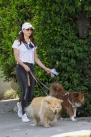 Aubrey Plaza walks with her dogs to the Pet Store in Los Feliz 2020/05/09 4