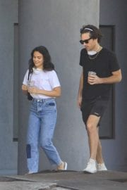 Camila Mendes with a Mystery Men during quarantine time in Los Angeles 2020/05/08 2