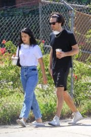 Camila Mendes with a Mystery Men during quarantine time in Los Angeles 2020/05/08 4