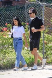 Camila Mendes with a Mystery Men during quarantine time in Los Angeles 2020/05/08 6