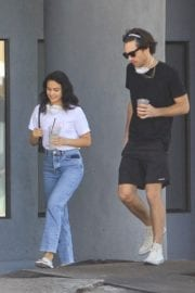 Camila Mendes with a Mystery Men during quarantine time in Los Angeles 2020/05/08 10