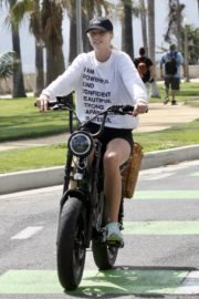 Abby Champion and Patrick Schwarzenegger Out Cycling in Santa Monica 2020/06/19 1