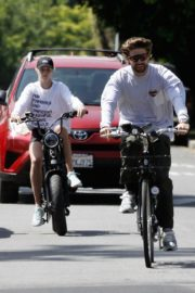 Abby Champion and Patrick Schwarzenegger Out Cycling in Santa Monica 2020/06/19 2