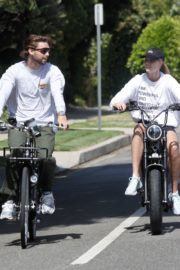 Abby Champion and Patrick Schwarzenegger Out Cycling in Santa Monica 2020/06/19 5