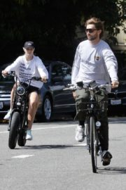 Abby Champion and Patrick Schwarzenegger Out Cycling in Santa Monica 2020/06/19 6