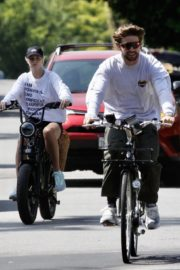 Abby Champion and Patrick Schwarzenegger Out Cycling in Santa Monica 2020/06/19 7