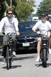 Abby Champion and Patrick Schwarzenegger Out Cycling in Santa Monica 2020/06/19 8