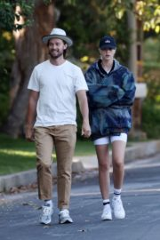 Abby Champion and Patrick Schwarzenegger Out in Pacific Palisades 2020/06/17 3