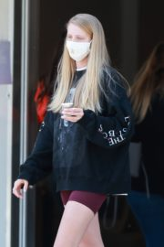 Abby Champion Wearing a Gucci Mask at Caffe Luxxe in Los Angeles 2020/06/10 3