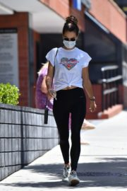 Alessandra Ambrosio Leaves a Gym in Brentwood 2020/06/15 1