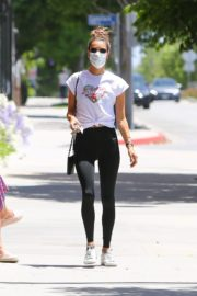 Alessandra Ambrosio Leaves a Gym in Brentwood 2020/06/15 12