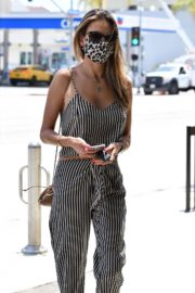 Alessandra Ambrosio Out for Lunch in Santa Monica 2020/06/19 10