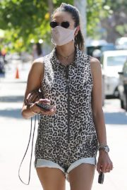 Alessandra Ambrosio Wearing a Mask Out in Los Angeles 2020/06/11 2