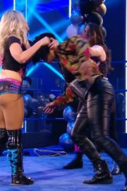 Alexa Bliss and Nikki Cross at WWE Smackdown in Orlando 2020/06/12 11