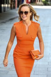 Amanda Holden in Orange Outfit at Global Radio Studios in London 2020/06/01 1