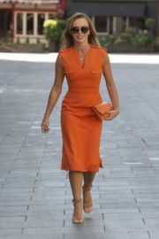 Amanda Holden in Orange Outfit at Global Radio Studios in London 2020/06/01 3