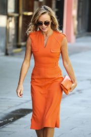 Amanda Holden in Orange Outfit at Global Radio Studios in London 2020/06/01 4